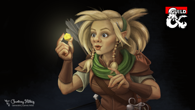 Dungeon Master's Guild - Character Portrait - Gnome - Meret